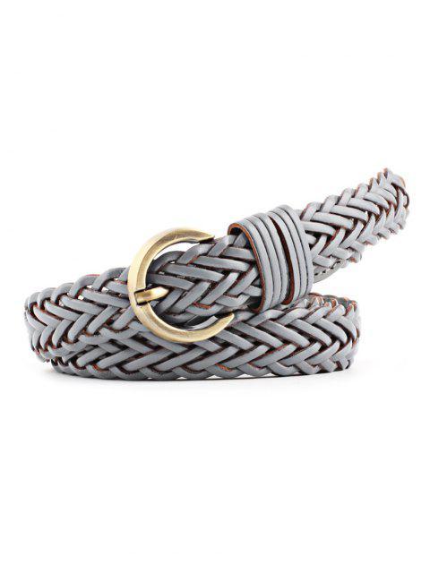 womens Solid Color Decoration Waist Belt - GRAY  Mobile