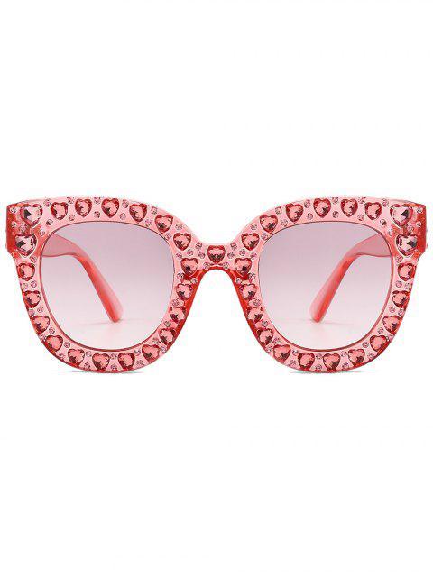 latest Chic Rhinestone Inlaid Sunglasses - PINK  Mobile