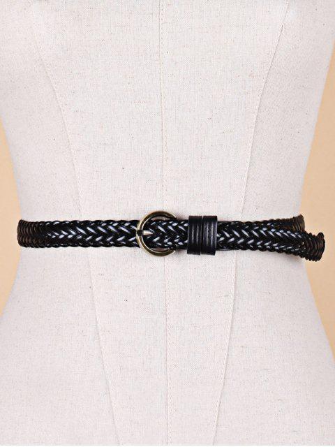 fancy Solid Color Decoration Waist Belt - BLACK  Mobile