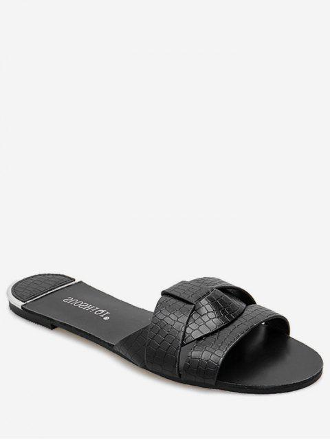 new Simple Cross PU Leather Slides - BLACK EU 39 Mobile