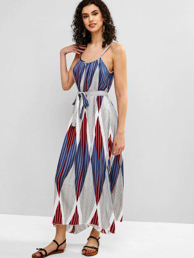 20287dd0a0 ... Belted Geometric Print Cami Dress - Multi S