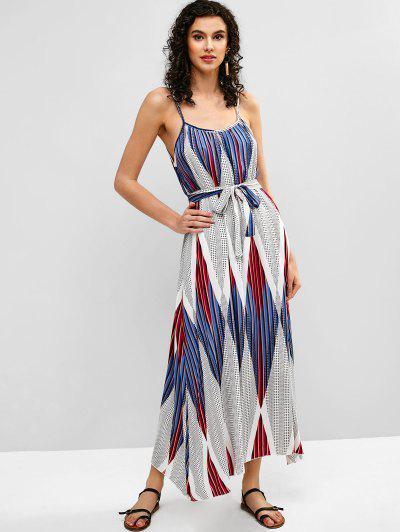 b7ba5e22e3 Belted Geometric Print Cami Dress - Multi S ...