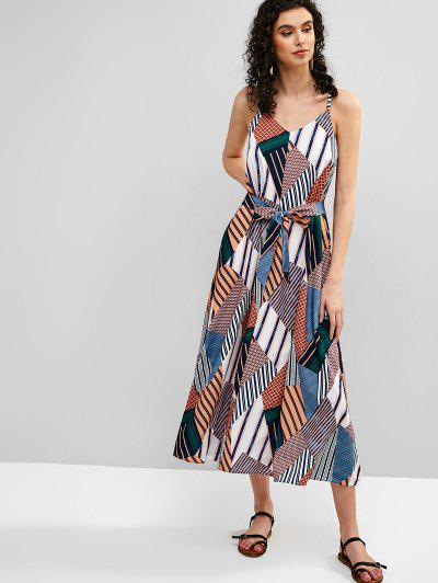 d5bcdf9508 ... Belted Printed Cami Maxi Dress - Multi S