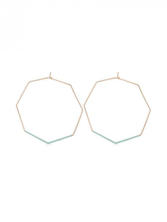 Pendientes geométricos octagon aro - Verde