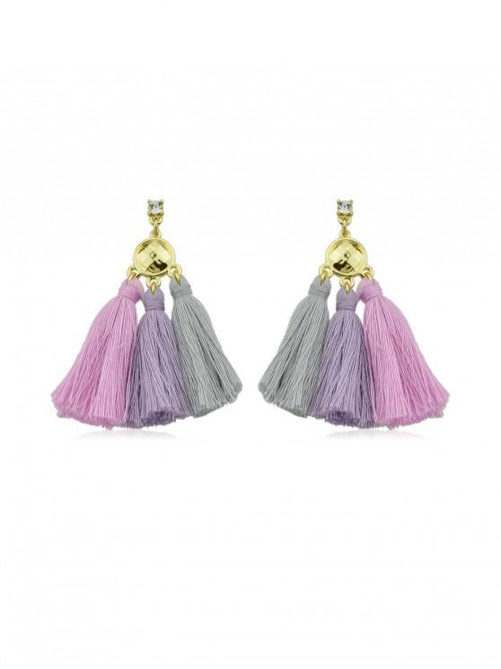 women Bohemia Alloy Tassel Earrings - LIGHT PINK