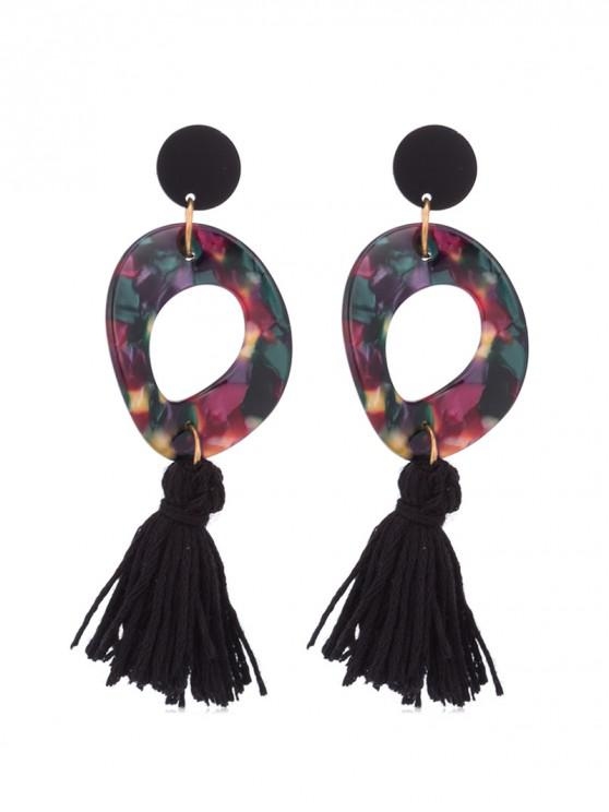 women's Retro Tassel Decoration Drop Earrings - PURPLE