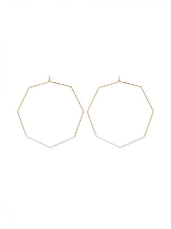 Boucles d'Oreilles au Crochet Géométriques Octogonales - Blanc