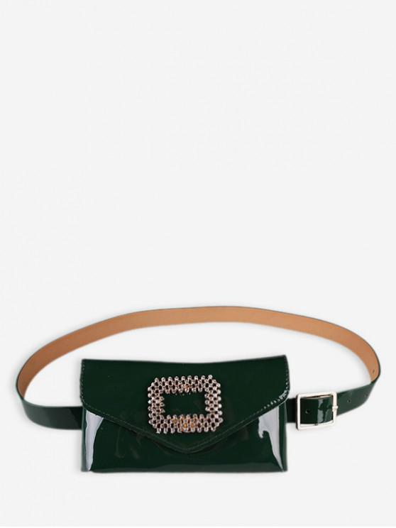 fashion Rhinestone Inlaid Fanny Pack - GREEN