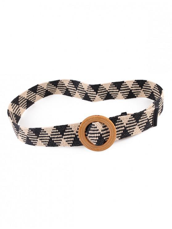 unique Vintage Weaving Buckle Waist Belt - MULTI-F