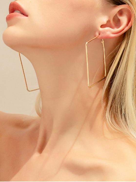 affordable Unique Square Design Alloy Earrings - GOLD