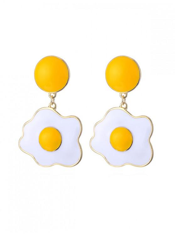 buy Fried Egg Shape Drop Earrings - YELLOW