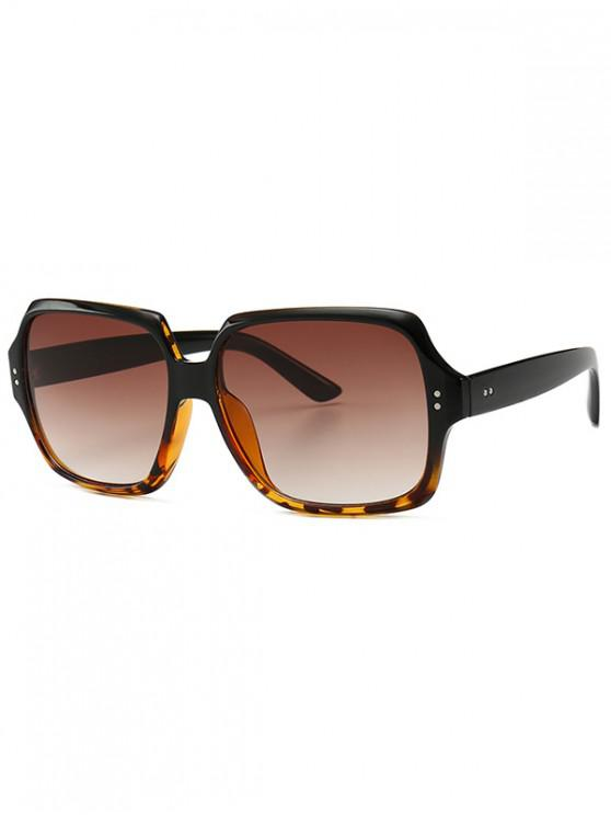 shops Retro Outdoor Square Sunglasses - BROWN