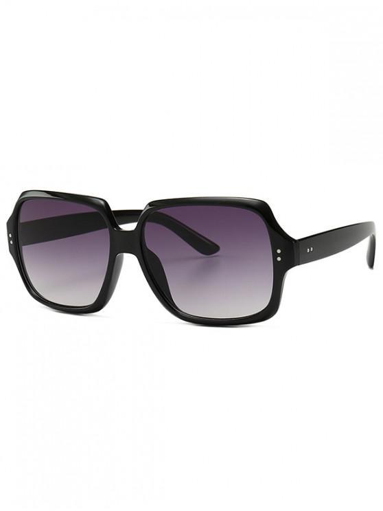 sale Retro Outdoor Square Sunglasses - BLACK