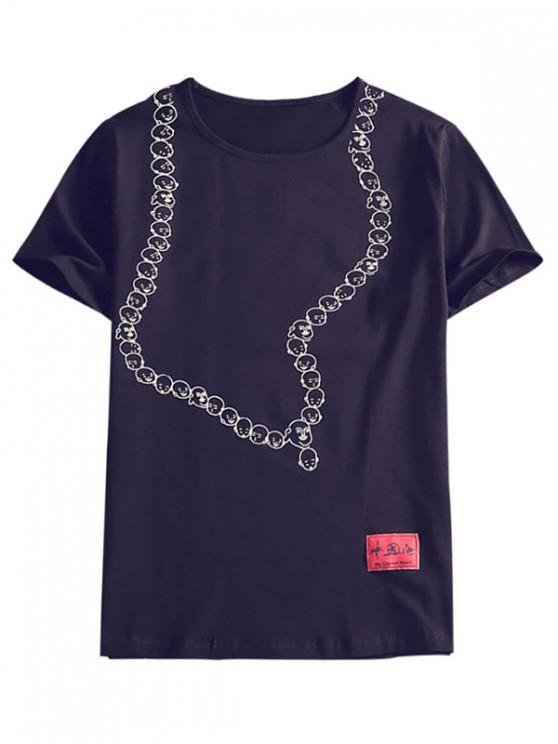 Camiseta casual estampado dibujo cara de Emotion - 1#_64GB XL