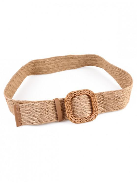shops Vintage Weaving Buckle Waist Belt - MULTI-B