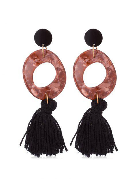 fashion Retro Tassel Decoration Drop Earrings - TAN  Mobile