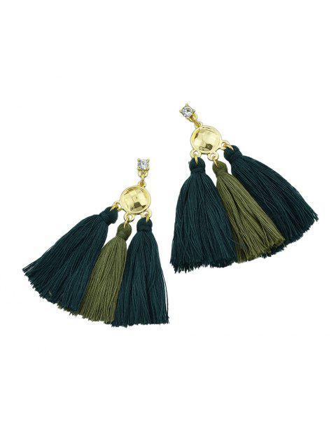 chic Bohemia Alloy Tassel Earrings - GREEN  Mobile