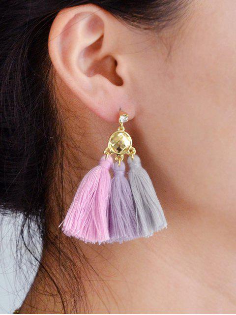 women Bohemia Alloy Tassel Earrings - LIGHT PINK  Mobile