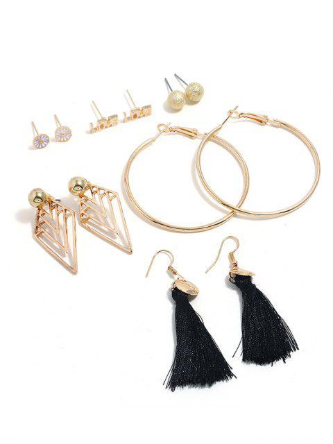 outfits Tassel Design Alloy Earrings Set - GOLD  Mobile