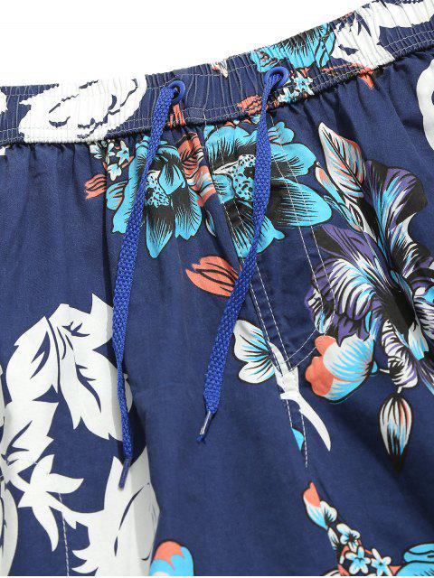 shops Flower Print Board Shorts - CADETBLUE L Mobile