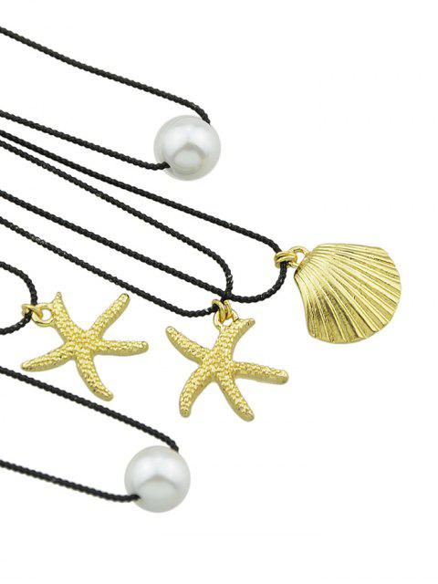 sale Seashell Decoration Alloy Hairpins Set - GOLD  Mobile
