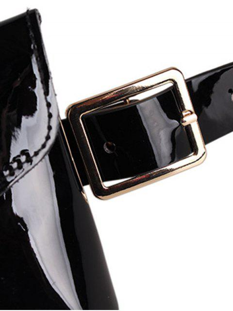 ladies Rhinestone Inlaid Fanny Pack - BLACK  Mobile