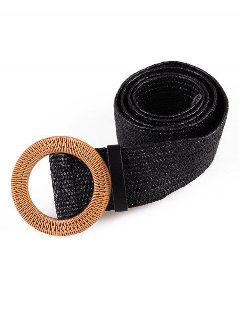 fashion Vintage Weaving Buckle Waist Belt - MULTI-D  Mobile