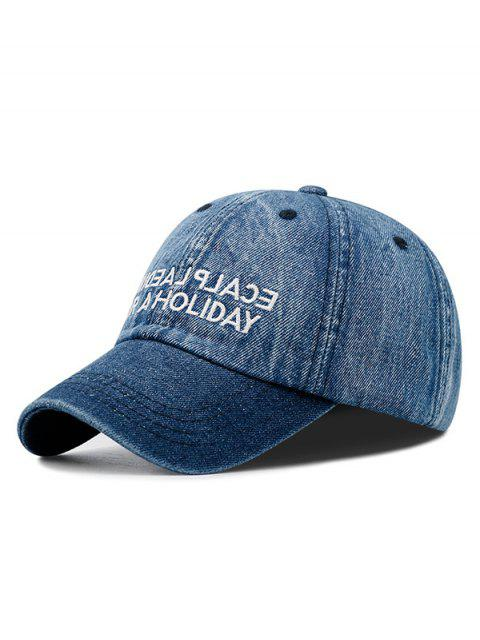 affordable Letter Denim Baseball Cap - BLUE  Mobile