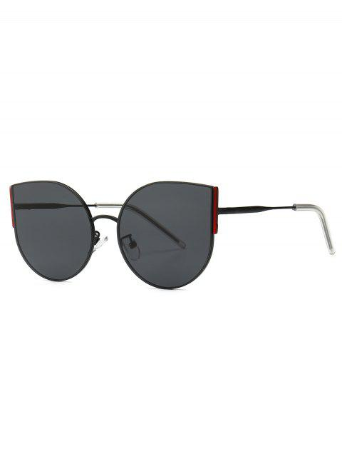 buy Metal Oversized Catty Eye Sunglasses - BLACK  Mobile