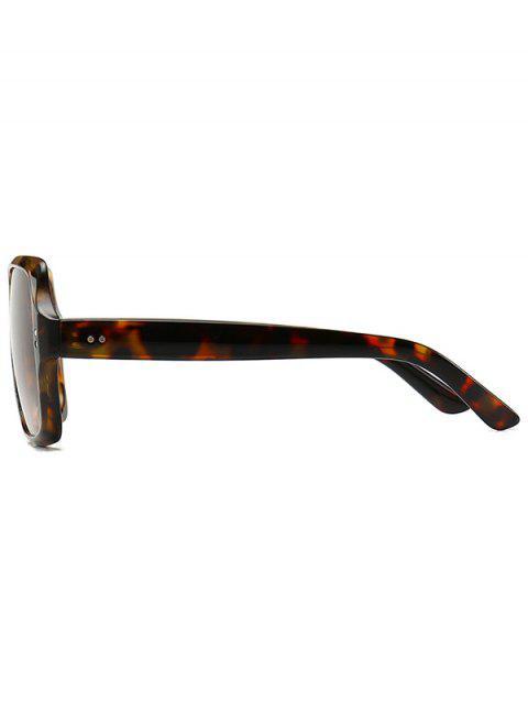 trendy Retro Outdoor Square Sunglasses - LEOPARD  Mobile
