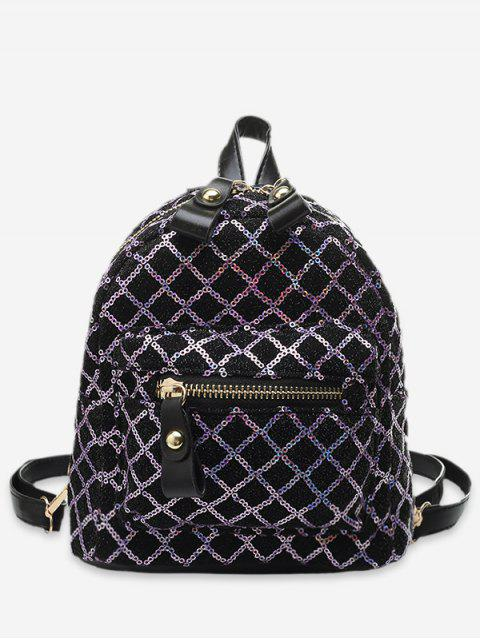 trendy Rhombic Sequined Mini Backpack - PINK  Mobile