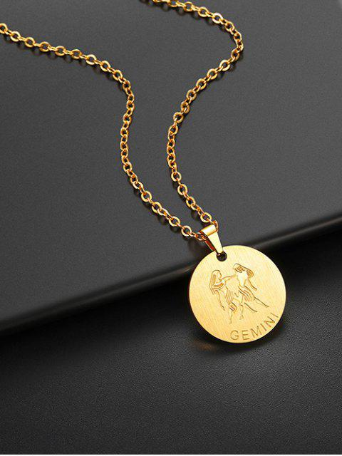 latest Coin Horoscope Pendant Necklace - GOLD GEMINI Mobile