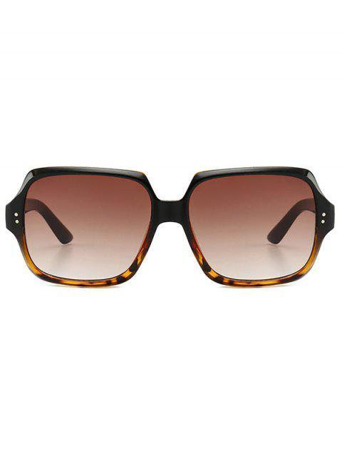 shops Retro Outdoor Square Sunglasses - BROWN  Mobile