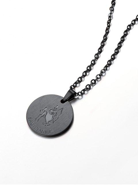 chic Coin Horoscope Pendant Necklace - BLACK SAGITTARIUS Mobile