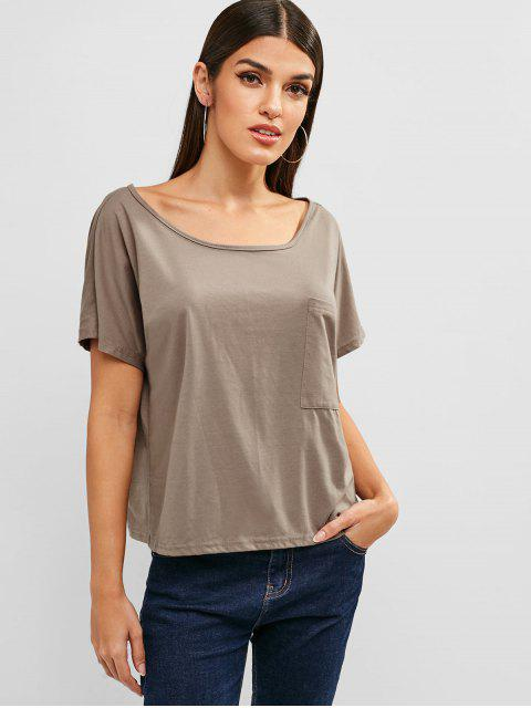 Camiseta de bolsillo delantera trasera abierta - Tan S Mobile