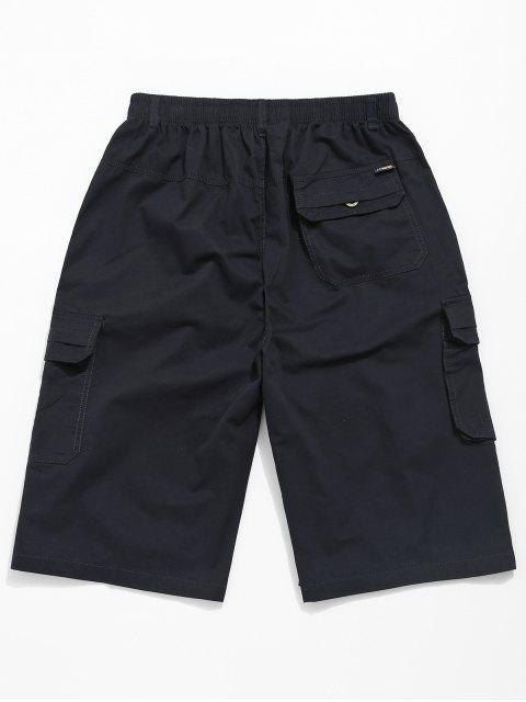 Shorts casuales con cordón ajustable de color liso - Lapislázuli S Mobile