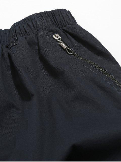 Short Décontracté Lettre à Cordon en Couleur Unie - Bleu Lapis L Mobile