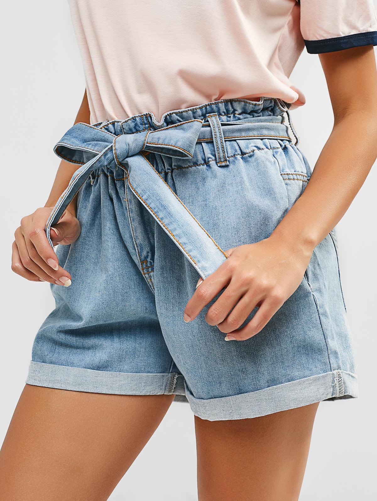 SO Big Girls Belted Denim Shorts