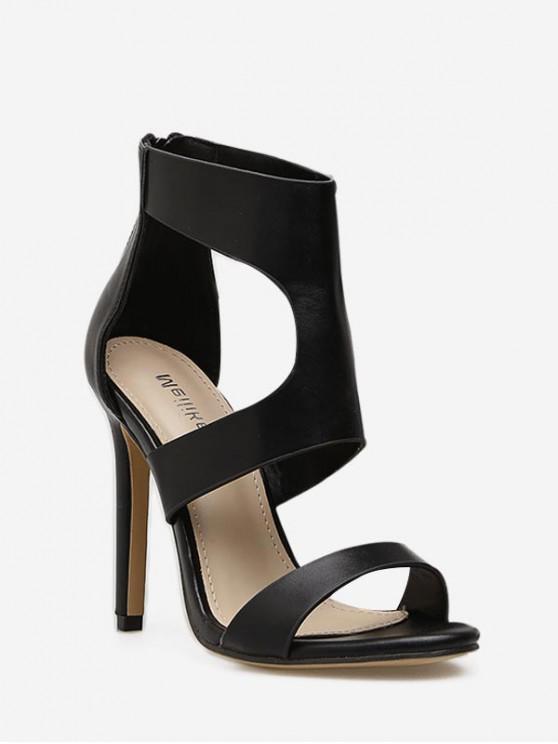 Sandalias de tacón alto corte sexy - Negro EU 36