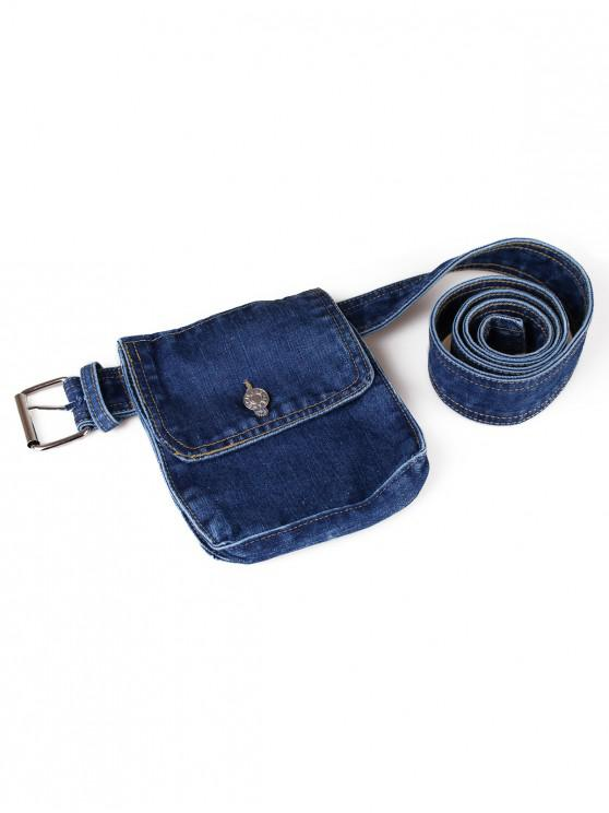 buy Chic Fanny Pack Belt Bag - DENIM DARK BLUE
