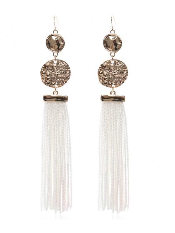womens Tassel Design Dangle Earrings - WHITE