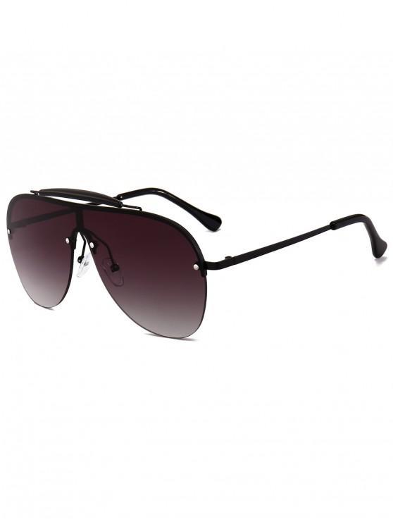 Gafas de sol de piloto sin montura - Negro