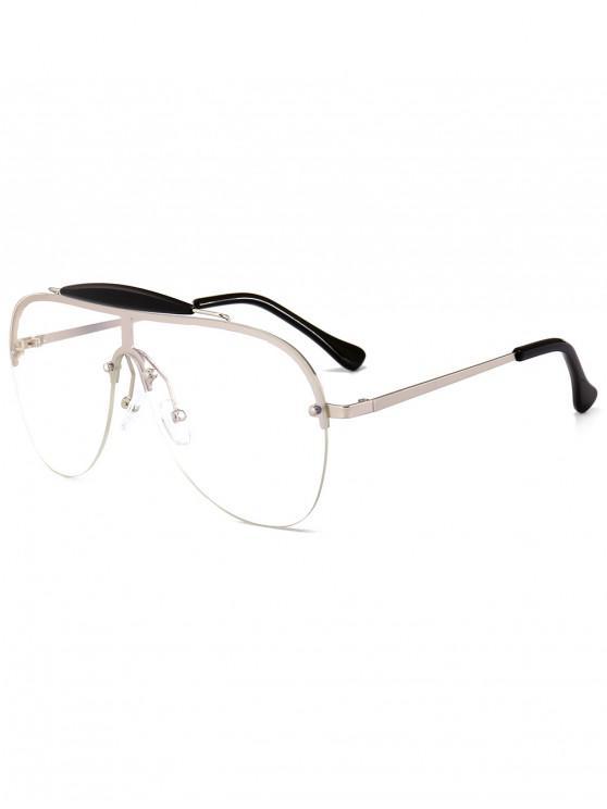 ladies Semi-rimless Pilot Sunglasses - TRANSPARENT
