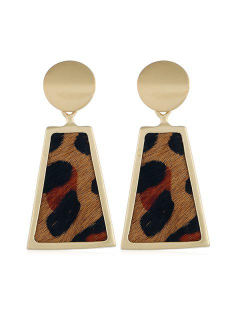 womens Alloy Leopard Trapeze Shape Retro Earrings - LEOPARD  Mobile