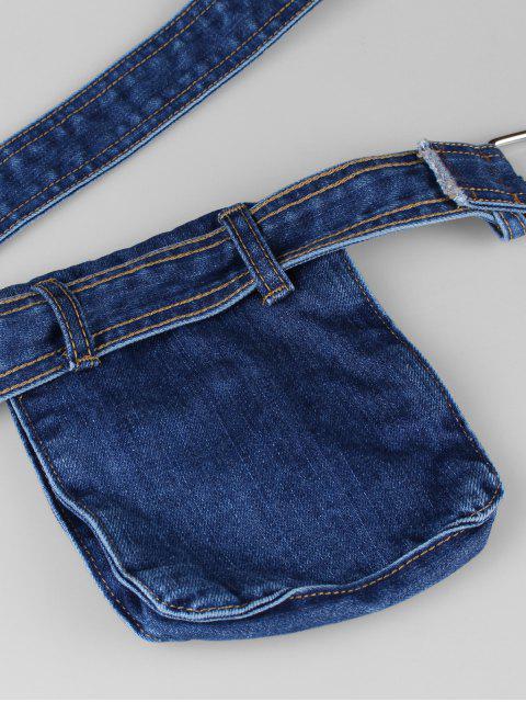buy Chic Fanny Pack Belt Bag - DENIM DARK BLUE  Mobile