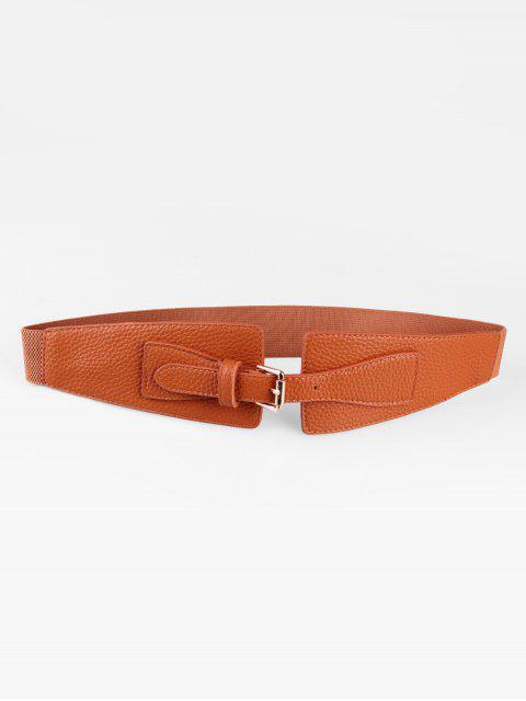 women's Buckle Decoration Waist Belt - LIGHT BROWN  Mobile