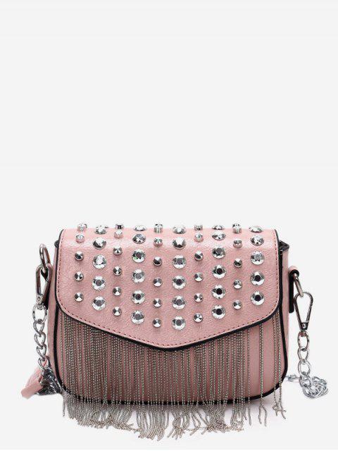 new Rivet Design Tassel Crossbody Bag - PINK  Mobile
