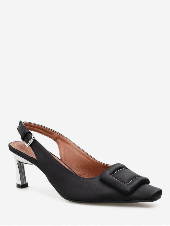 309d73478bf 24% OFF   NEW  2019 Square Toe Buckle Slingback Pumps In BLACK