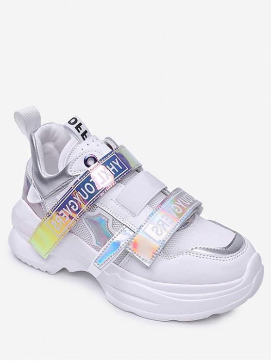 Malla holográfica de calzado deportivo transpirable - Blanco EU 37