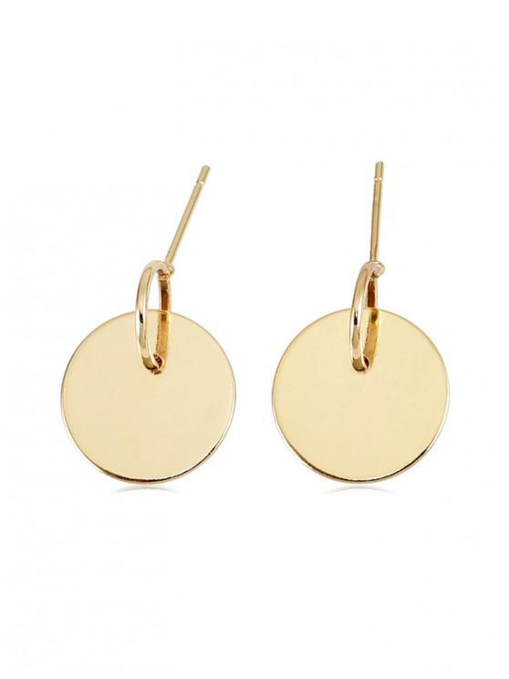 affordable Personality Disc Earrings - GOLD